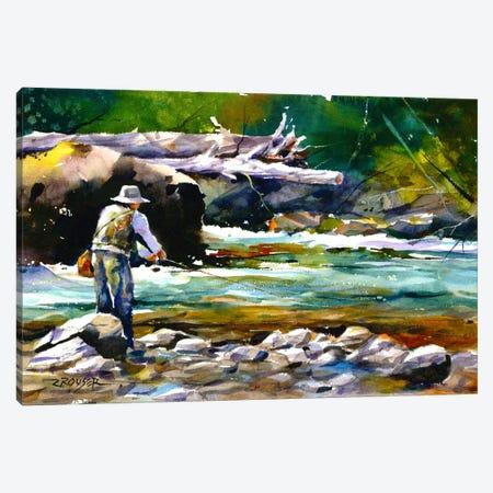 Fishing Canvas Print #DCR69} by Dean Crouser Canvas Art Print