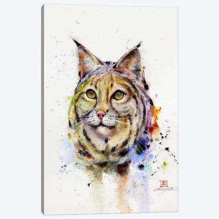 Wild Cat Canvas Print #DCR76} by Dean Crouser Canvas Art Print