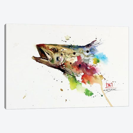 Abstract Trout Canvas Print #DCR78} by Dean Crouser Canvas Artwork