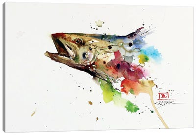 Abstract Trout Canvas Art Print