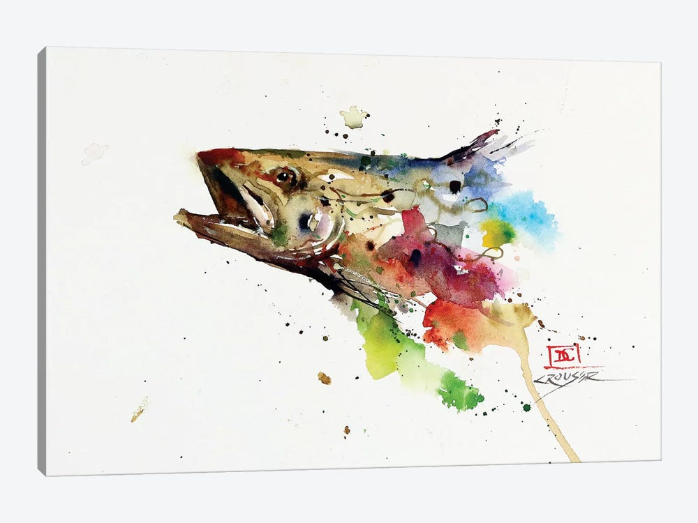 Abstract Trout by Dean Crouser 1-piece Canvas Artwork