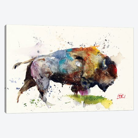 Bison II 3-Piece Canvas #DCR82} by Dean Crouser Canvas Print