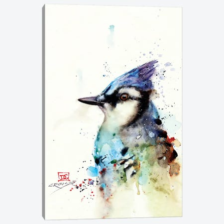 Blue Jay II Canvas Print #DCR83} by Dean Crouser Art Print