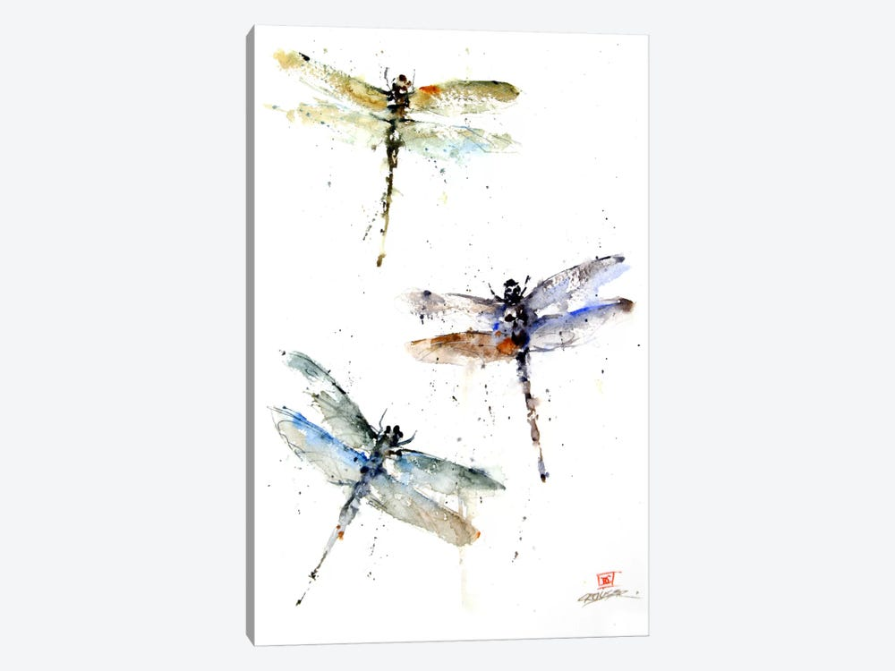 Dragonflies by Dean Crouser 1-piece Canvas Print