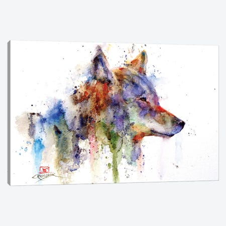 Coyote Canvas Print #DCR90} by Dean Crouser Canvas Wall Art