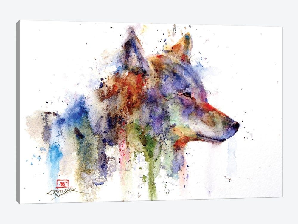 Coyote by Dean Crouser 1-piece Canvas Artwork