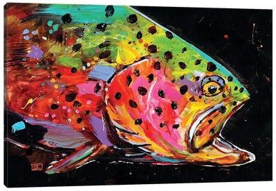 Crazy Trout Canvas Art Print