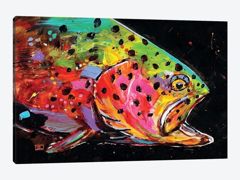 Crazy Trout by Dean Crouser 1-piece Art Print