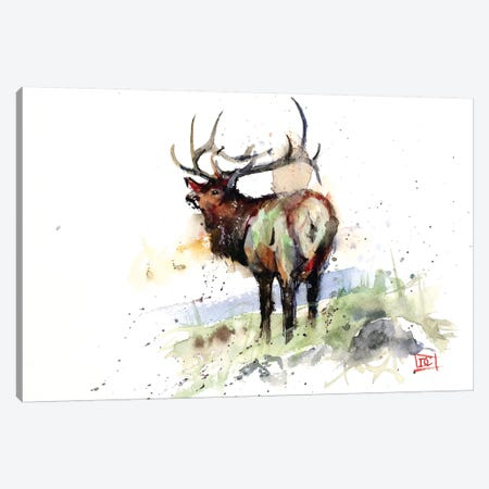 Elk III Canvas Print #DCR92} by Dean Crouser Canvas Wall Art