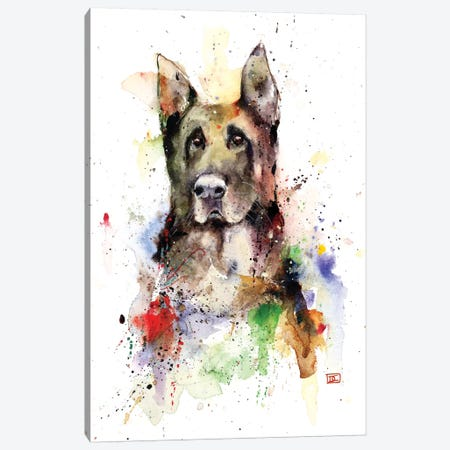 German Shepherd Canvas Print #DCR95} by Dean Crouser Canvas Art Print