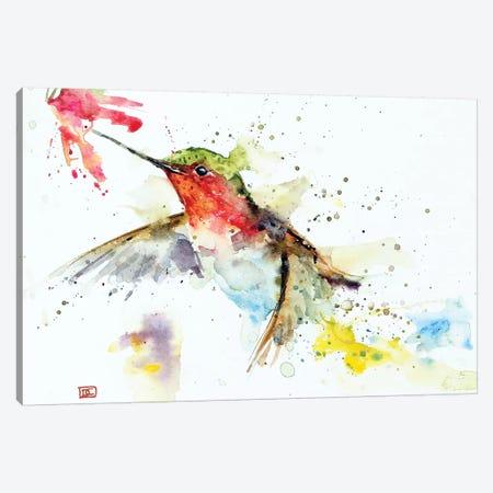 Hummer & Flower Canvas Print #DCR96} by Dean Crouser Canvas Art Print
