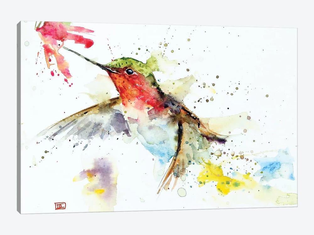 Hummer & Flower by Dean Crouser 1-piece Canvas Artwork