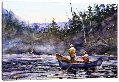In the Boat Canvas Art Print