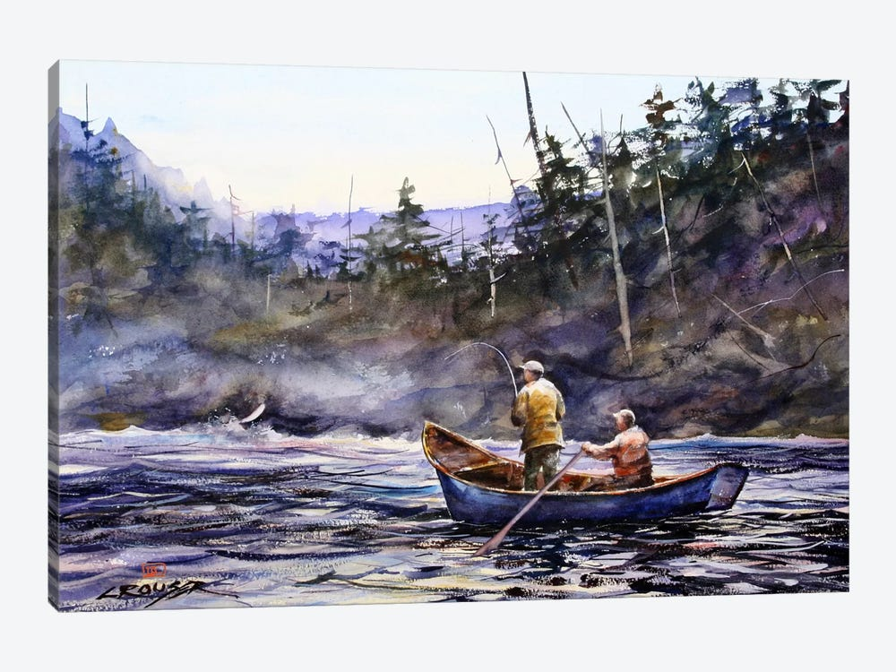 In the Boat by Dean Crouser 1-piece Canvas Art