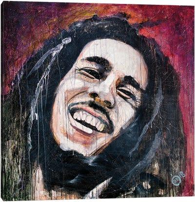The King Of Reggae I Canvas Art Print