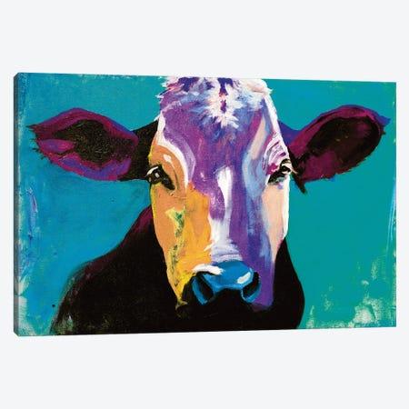 Cow XX Canvas Print #DCS49} by Didier Chastan Canvas Wall Art