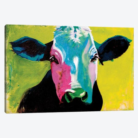 Cow XXI Canvas Print #DCS50} by Didier Chastan Canvas Print
