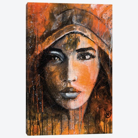 Indian XIV Canvas Print #DCS57} by Didier Chastan Canvas Artwork