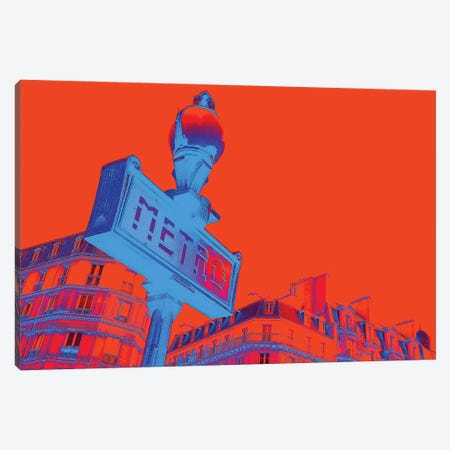 Metro I Canvas Print #DCS60} by Didier Chastan Canvas Artwork