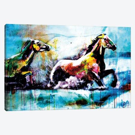 Chevaux III Canvas Print #DCS6} by Didier Chastan Canvas Artwork