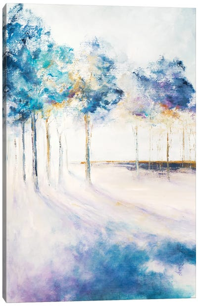 Shadow and Tall Trees Canvas Art Print