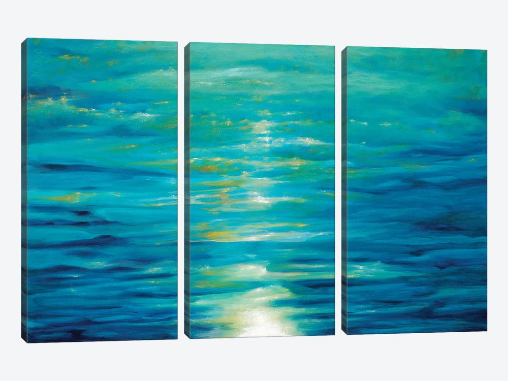 Deep Blue 3-piece Canvas Artwork