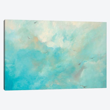 Flying Home Canvas Print #DDA4} by Dina D'Argo Canvas Wall Art
