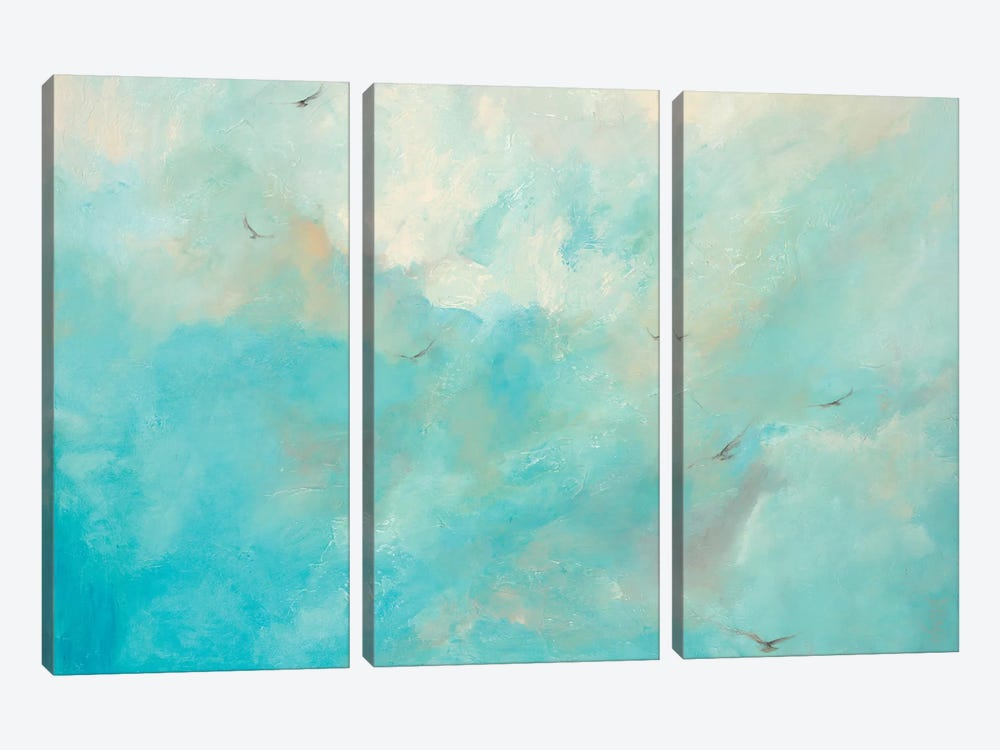 Flying Home by Dina D'Argo 3-piece Canvas Art Print
