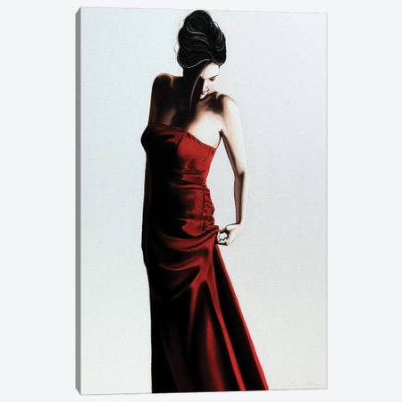 Red Dress Canvas Print #DDC15} by Drew Darcy Art Print
