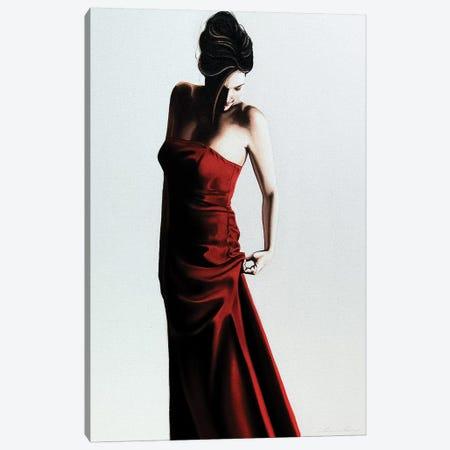 Red Dress Canvas Print #DDC15} by Drew Darcy Art Print