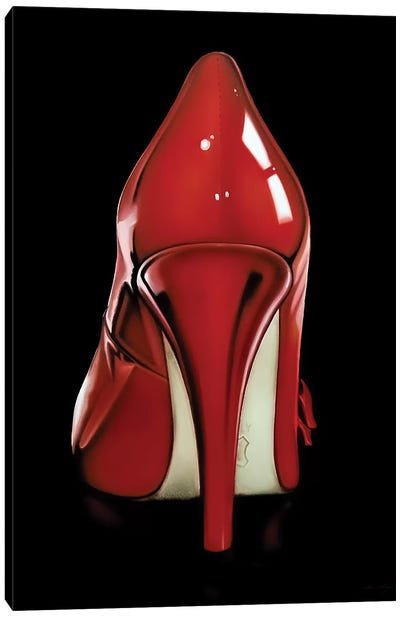Red Heel Canvas Art Print