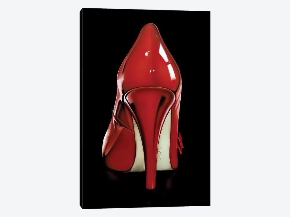 Red Heel by Drew Darcy 1-piece Canvas Art