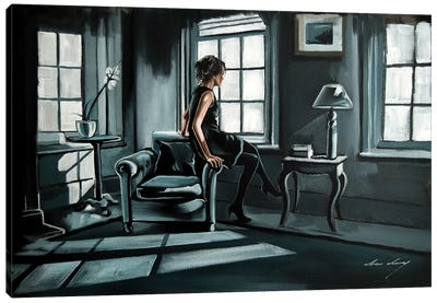 Waiting Games Canvas Art Print