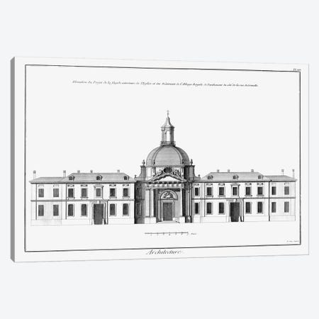Architectural Elevation I 3-Piece Canvas #DDI8} by Denis Diderot Canvas Art Print
