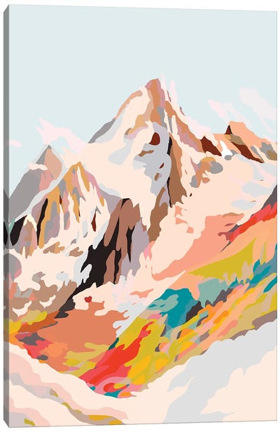 Glass Mountains Canvas Art Print