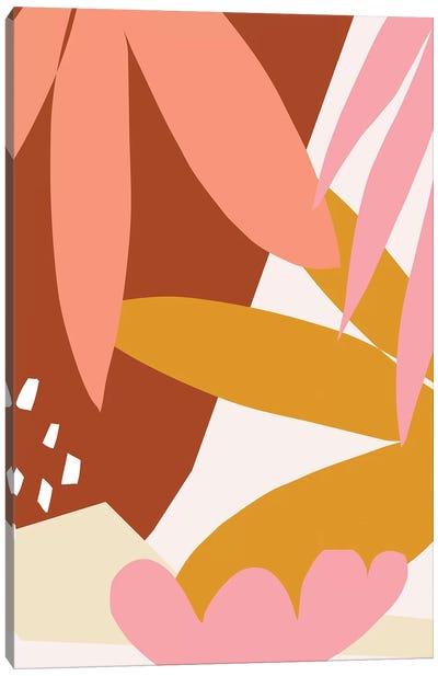 Graphic Leaves Canvas Art Print