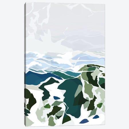 Green Mountains Canvas Print #DDL29} by Danse De Lune Canvas Artwork
