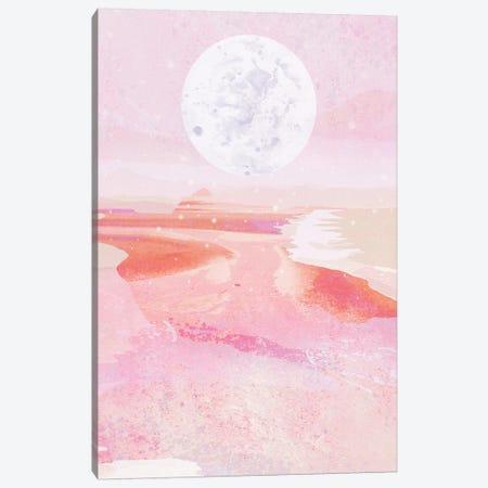 Pink Moonrise Canvas Print #DDL49} by Danse De Lune Canvas Art