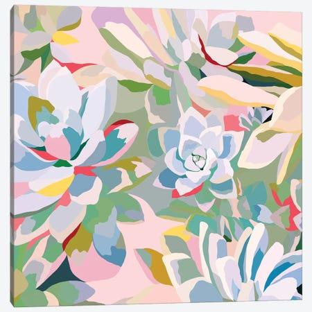 Summer Succulents Canvas Print #DDL58} by Danse De Lune Canvas Art Print