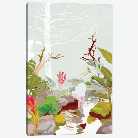 Water Garden Canvas Print #DDL69} by Danse De Lune Canvas Art