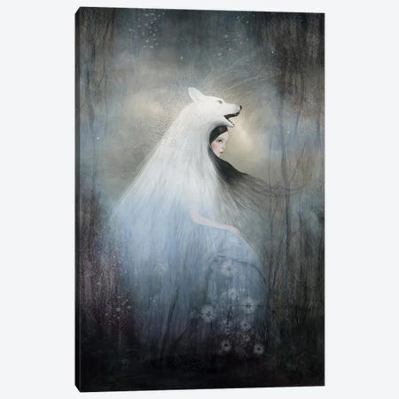 Wolf Princess Canvas Print #DDL73} by Danse De Lune Art Print