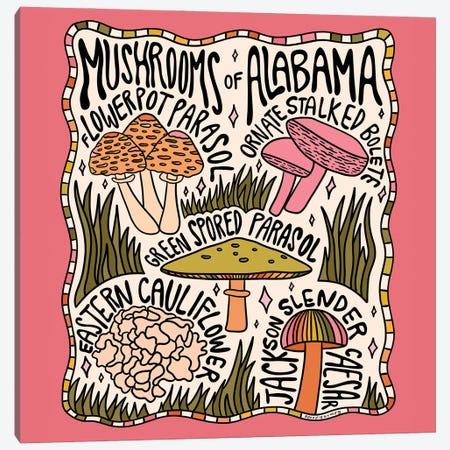 Mushrooms Of Alabama Canvas Print #DDM102} by Doodle By Meg Canvas Art Print