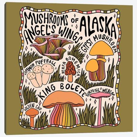 Mushrooms Of Alaska Canvas Print #DDM103} by Doodle By Meg Canvas Art Print