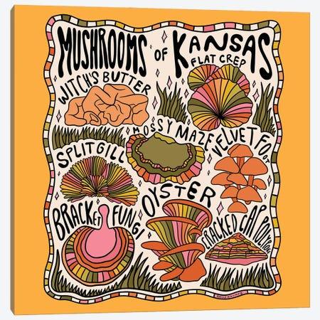 Mushrooms Of Kansas Canvas Print #DDM105} by Doodle By Meg Canvas Wall Art