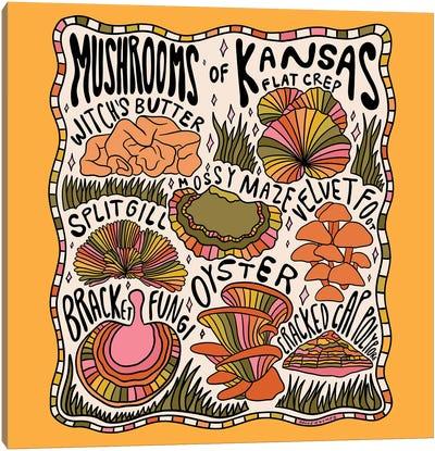 Mushrooms Of Kansas Canvas Art Print