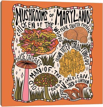 Mushrooms Of Maryland Canvas Art Print