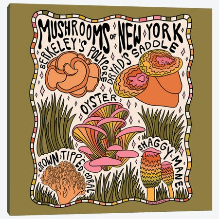 Mushrooms Of New York Canvas Print #DDM108} by Doodle By Meg Canvas Print