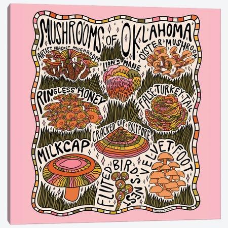 Mushrooms Of Oklahoma Canvas Print #DDM109} by Doodle By Meg Art Print