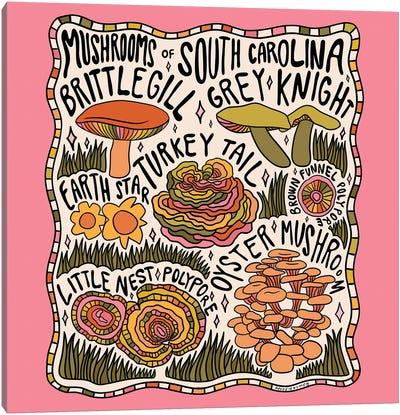 Mushrooms Of South Carolina Canvas Art Print