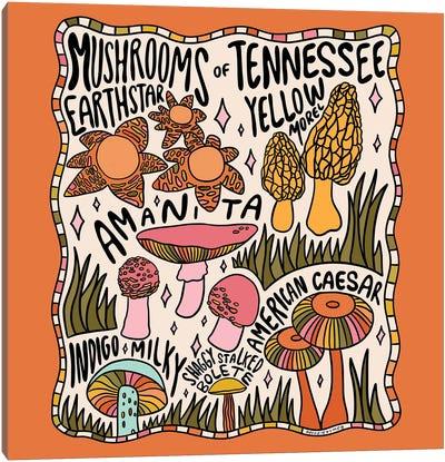 Mushrooms Of Tennessee Canvas Art Print